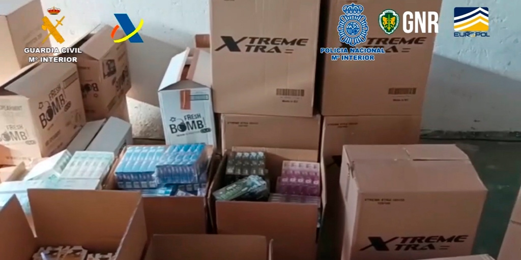 La operación policial en Villoruela desarticula una red de fabricación y venta ilegal de tabaco