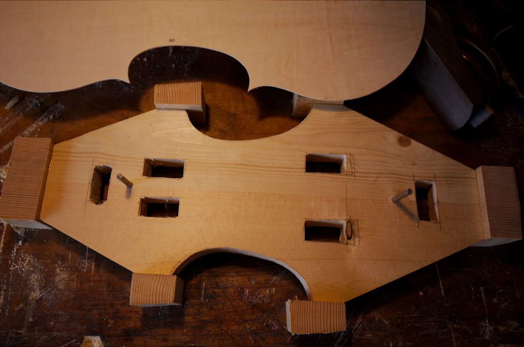 skelton mould with blocks attached