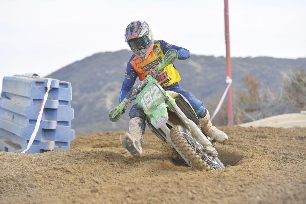 jp alvarez riding his kx250x at the 2021 glen helen ngpc