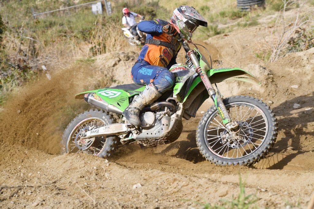 clay hengeveld riding his kx250x at the 2021 glen helen ngpc