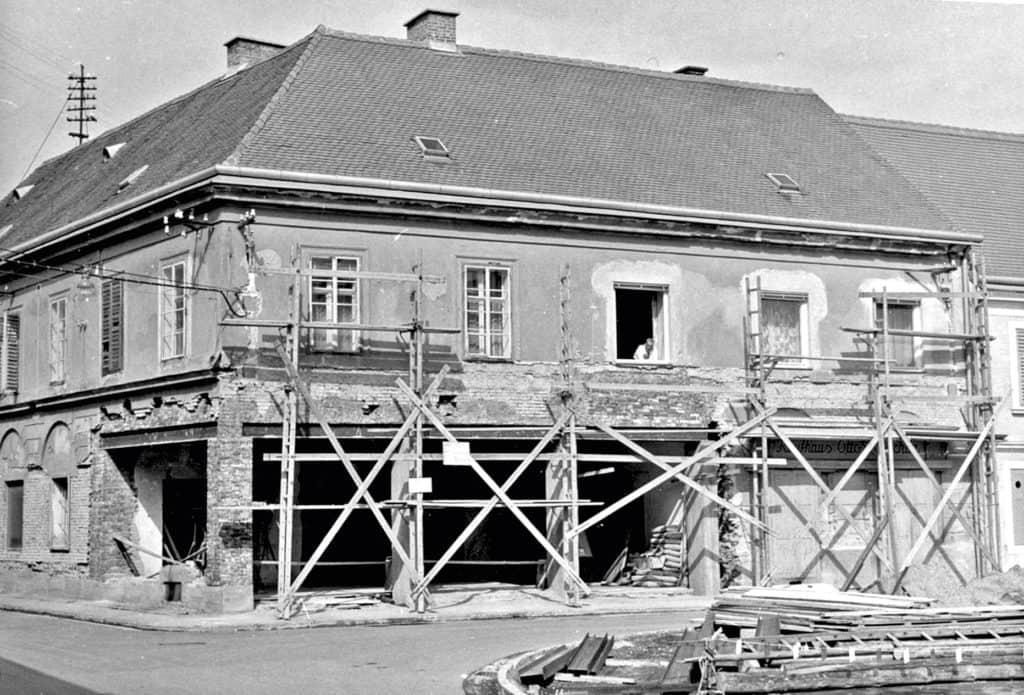 Firmengebäude beim Umbau 1960