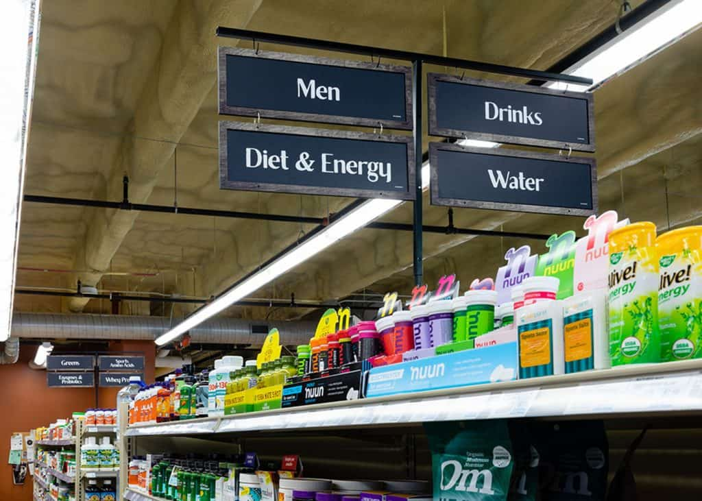 aisle signs