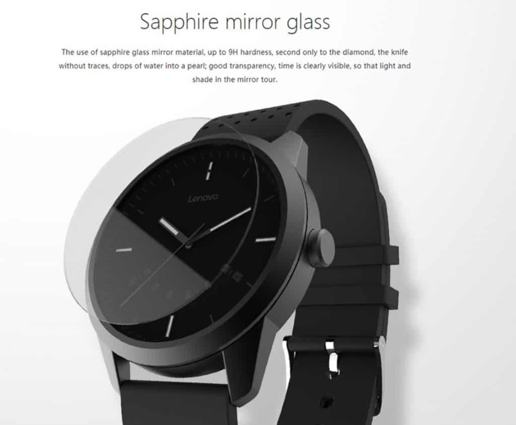 smartwatch replica apple watch clone Lenovo Watch 1 Sapphire Mirror Glass Stainless Fingerprint