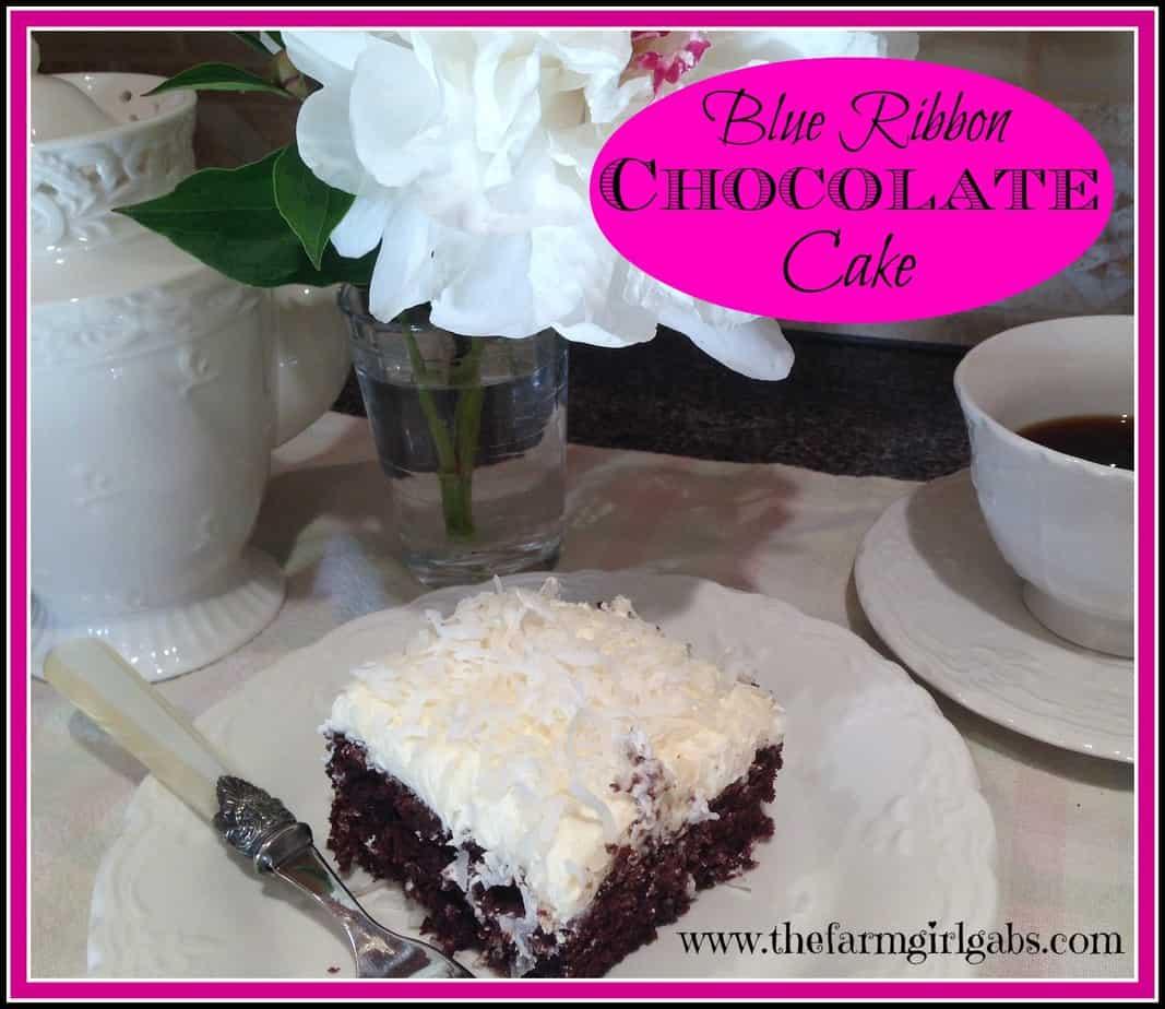 Annie's Blue Ribbon Chocolate Cake