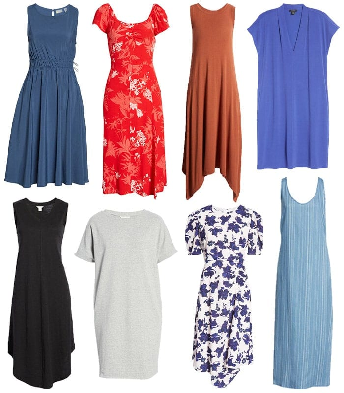 the best and most Flattering summer dresses for women over 40