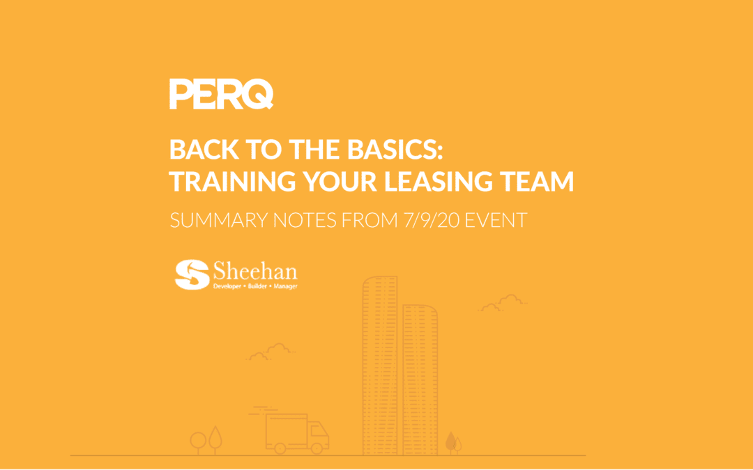 Back to the Basics: Training Your Leasing Team