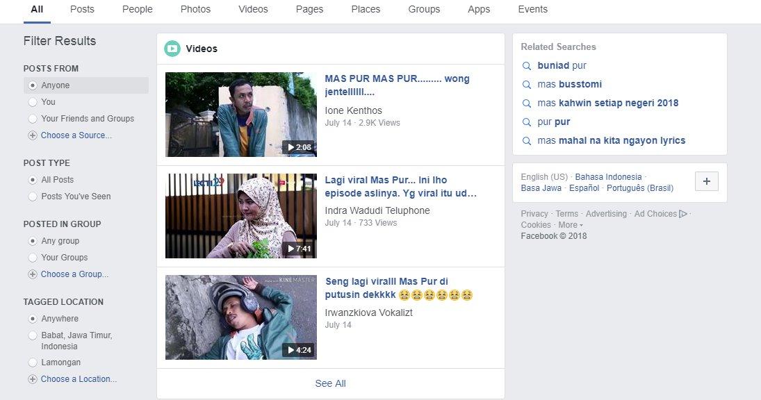 Mencari viral di facebook