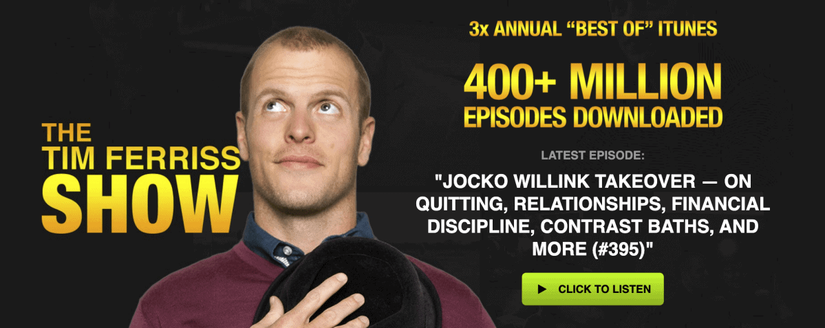Podcaster Tim Ferriss Show