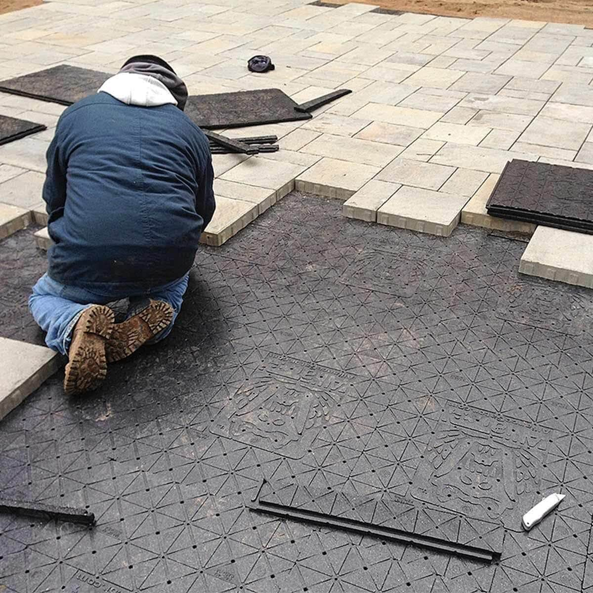 Install Some Paver Edging and Finalize It by Installing the Pavers