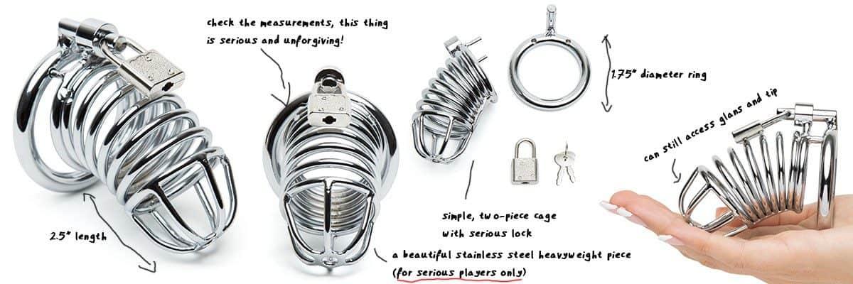 dominix stainless steel cock lock belt