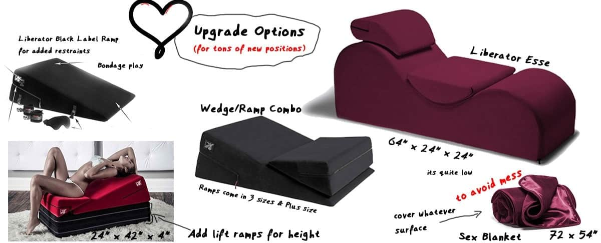 upgrade options for sex pillows