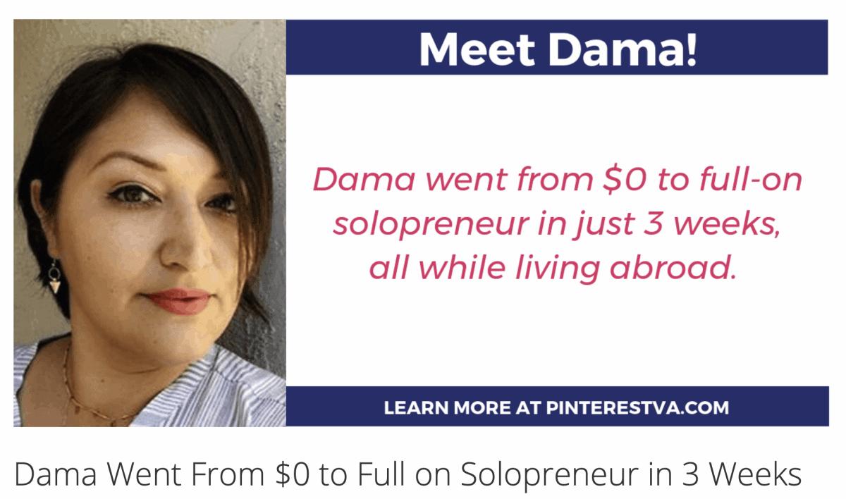 Pinterest Virtual Assistant Dama