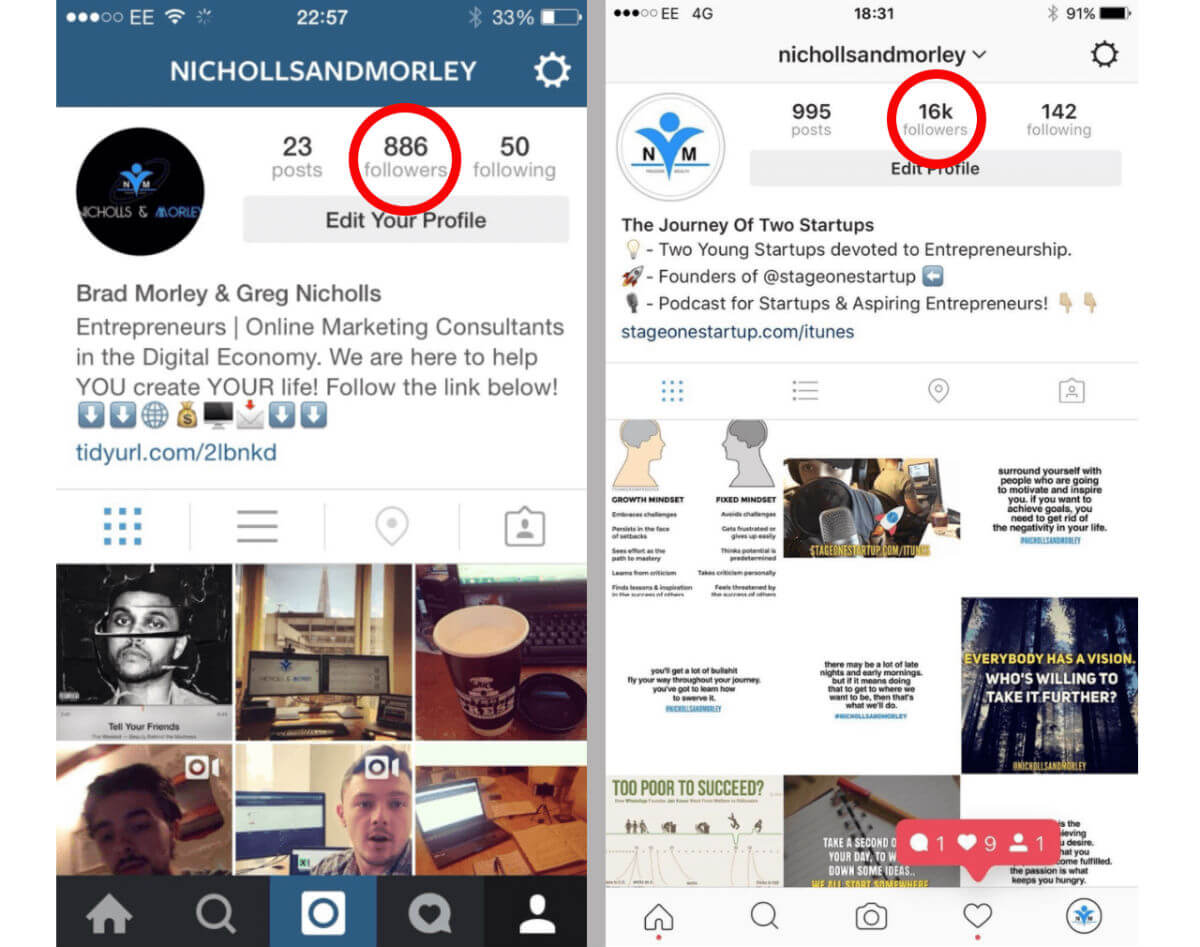 How 2 Ordinary Guys Grew Their Instagram Following From 800