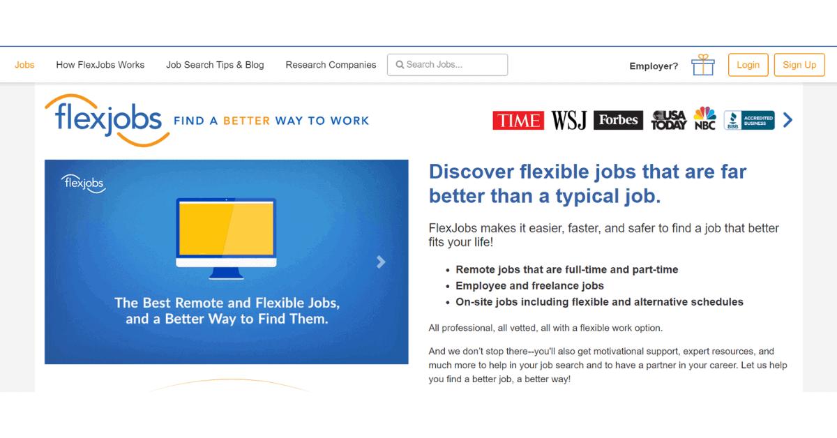 Flexjobs: i migliori lavori remoti e flessibili