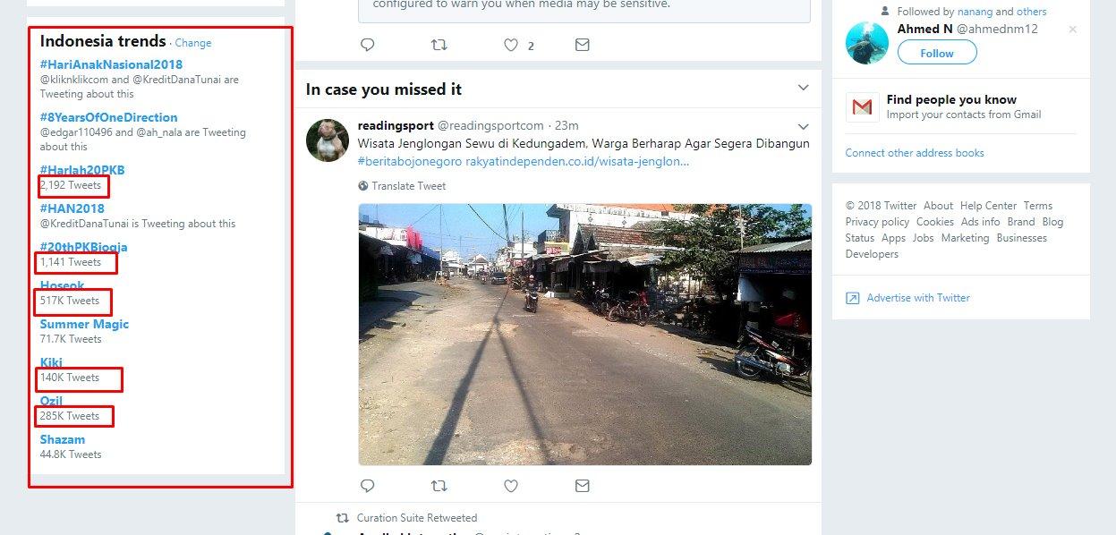 mencari konten viral di twitter