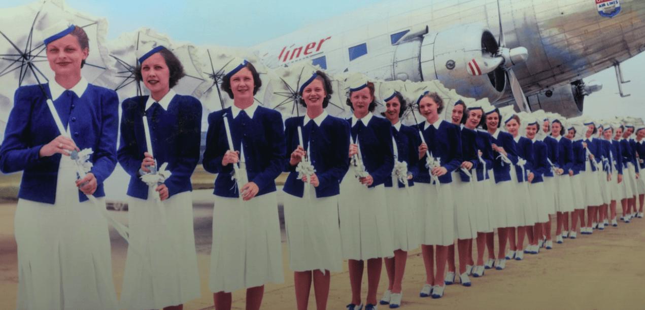 1940s air stewardess