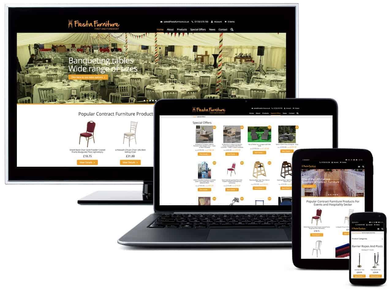fiesta-furniture website design by Blue Dolphin Business Development