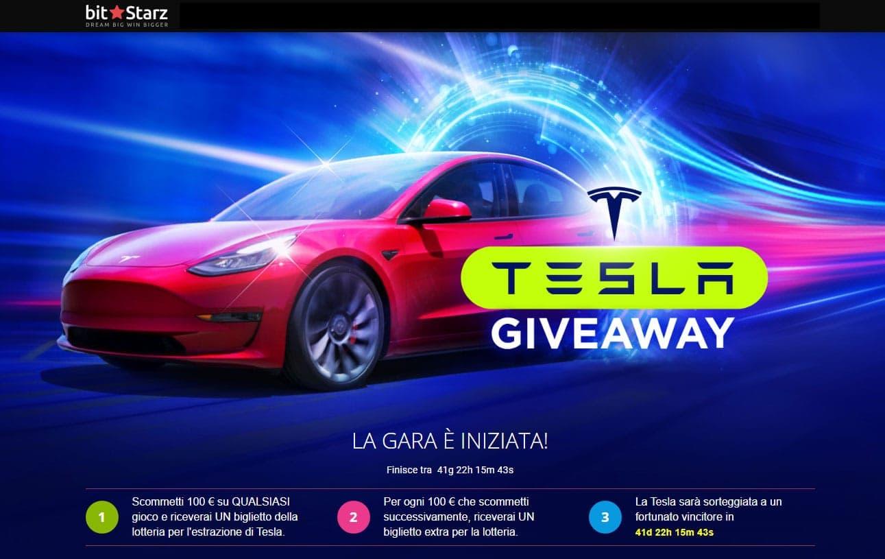 BitStarz Casino Natale 2020 concorse Tesla