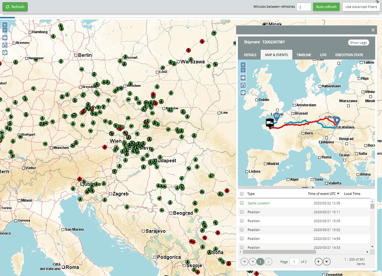 Monitoring kaart