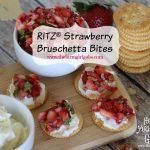 RITZ® Strawberry Bruschetta Bites