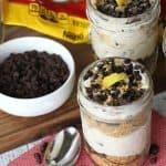 No-Bake Cannoli Cheesecake Jars