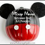 Mickey Mouse Halloween Wall Art Pumpkin