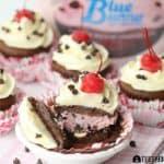 Cherry Bombs {Ice Cream Cupcakes}