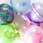 Disney Princess Glitter Ornaments
