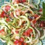 Zesty Parmesan Zucchini Pasta {Zoodles}