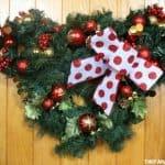 Minnie Mouse Christmas Wreath