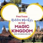 Hidden Mickeys in Magic Kingdom Walt Disney World