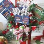 New Jersey Lottery Scratch-Offs Christmas Arrangement