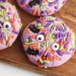 Halloween Monster Sprinkle Cookies