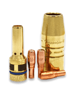 AccuLock R consumables family including contact tips, nozzle and slip-on diffuser