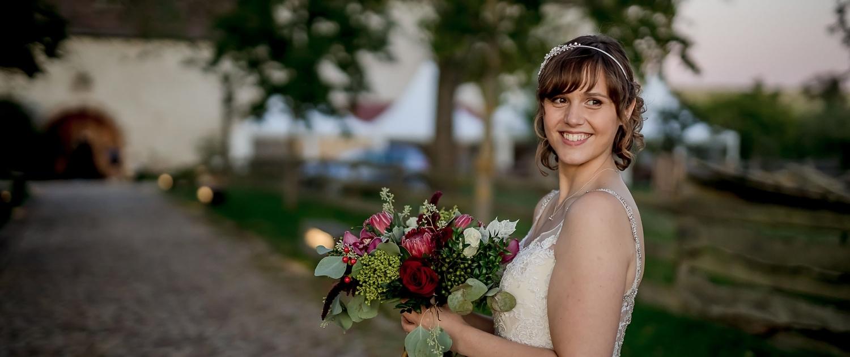 die Braut im Abendlicht