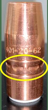 401-20-62 nozzles showing 8 jaw crimp