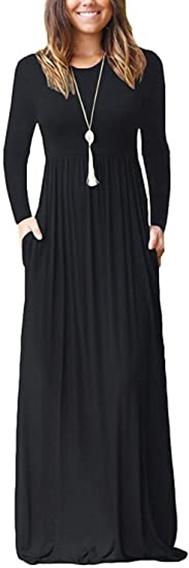 AUSELILY long sleeve maxi dress | 40plusstyle.com