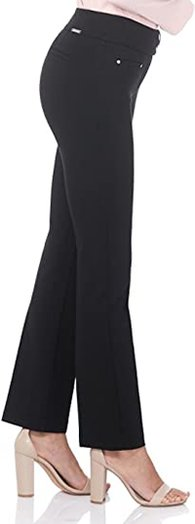 Rekucci Secret Figure pull-on knit straight pants | 40plusstyle.com