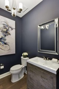 NAVY BLUE WALL COLOR FOR SMALL BATHROOM