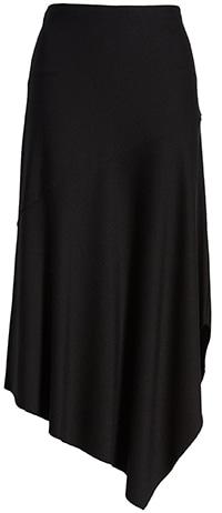 Lyssé handkerchief hem midi skirt | 40plusstyle.com
