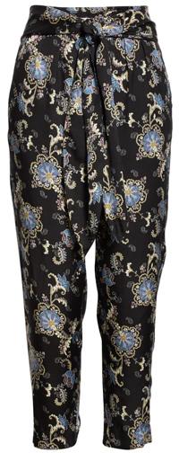 Rebecca Taylor paisley fleur silk blend pants | 40plusstyle.com