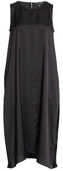 Eileen Fisher silk blend shift dress | 40plusstyle.com