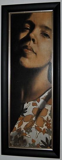 Dila Moniz Expõe no Forum Grandella Artes & contextos Auto Retrato Pastel seco sobre MDF