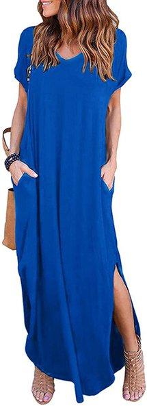 HUSKARY maxi dress | 40plusstyle.com