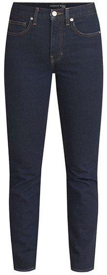 Veronica Beard Ryleigh high waist slim straight leg jeans | 40plusstyle.com