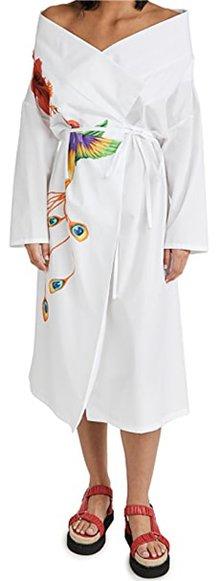 Diane Von Furstenberg Michelle Silk Crepe De Chine Midi Dress | 40plusstyle.com