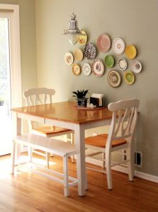SIMPLE SMALL DINING ROOM IDEAS WITH BENCH