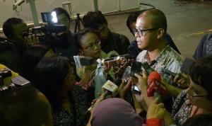 Seskab Andi Wijayanto memberi penjelasan seputar pengajuan nama Komjen Pol Budi Gunawan sebagai calon Kapolri, di Bandung, Senin (12/1)