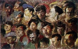 Foto: Lukisan Kawan-Kawan Revolusi, S. Sudjojono (1947),