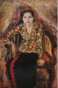 Foto: Lukisan Di Depan Kelamboe Terboeka, S. Sudjojono,